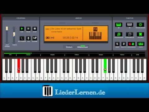 Connie Francis - Die Liebe ist ein seltsames Spiel - Klavier lernen - Musiknoten - Akkorde