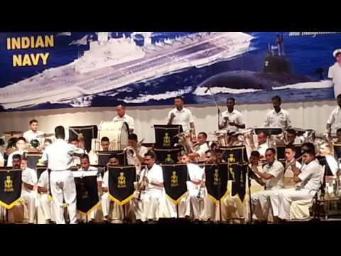 Indian Navy Orchestra playing Hindi songs medley