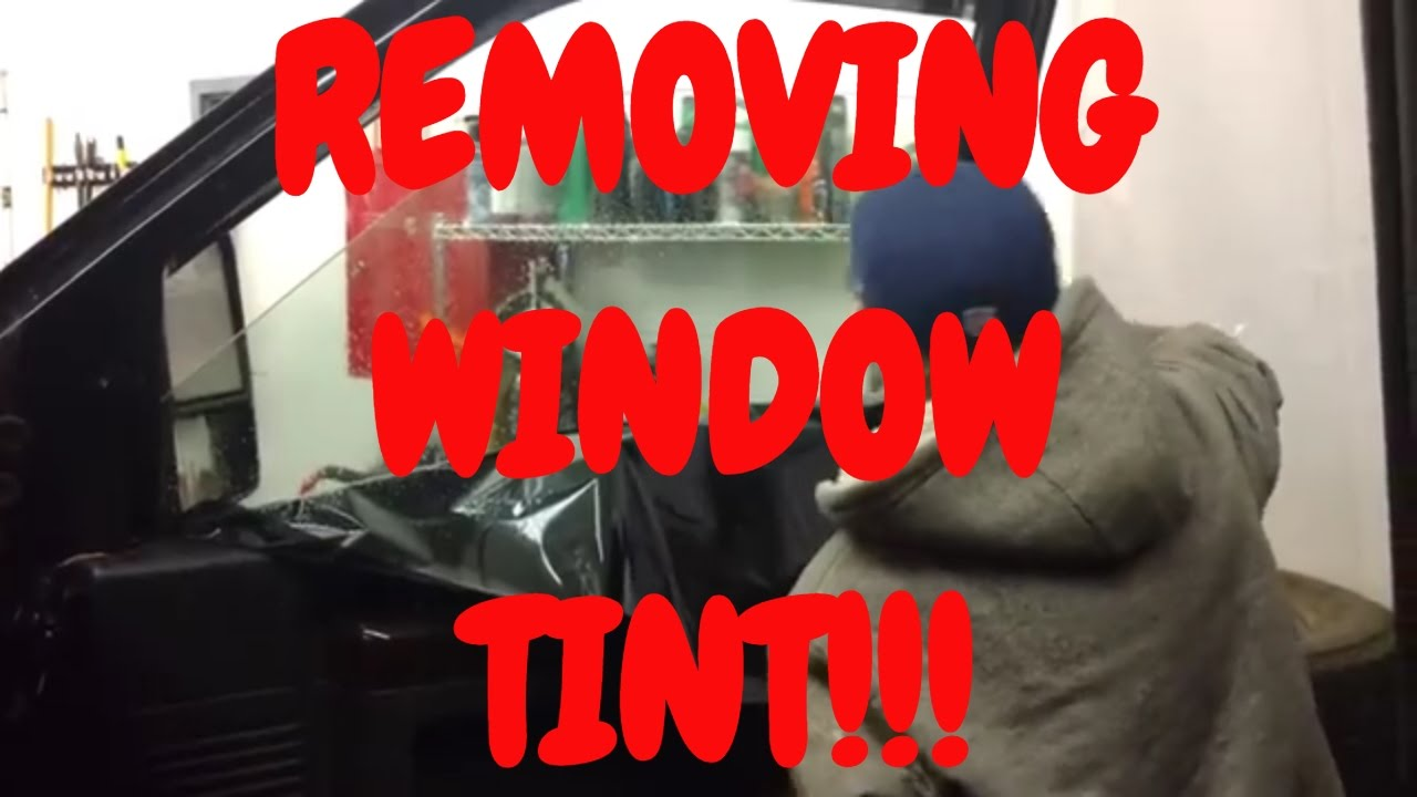 How to remove tint from car windows | Window tint removal ...