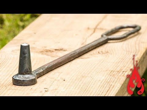 Blacksmithing - Making a round power hammer punch