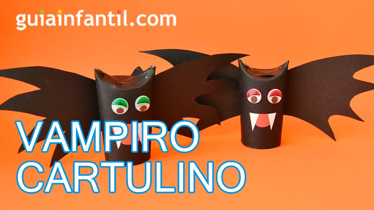 manualidades para halloween vampiro cartulino youtube