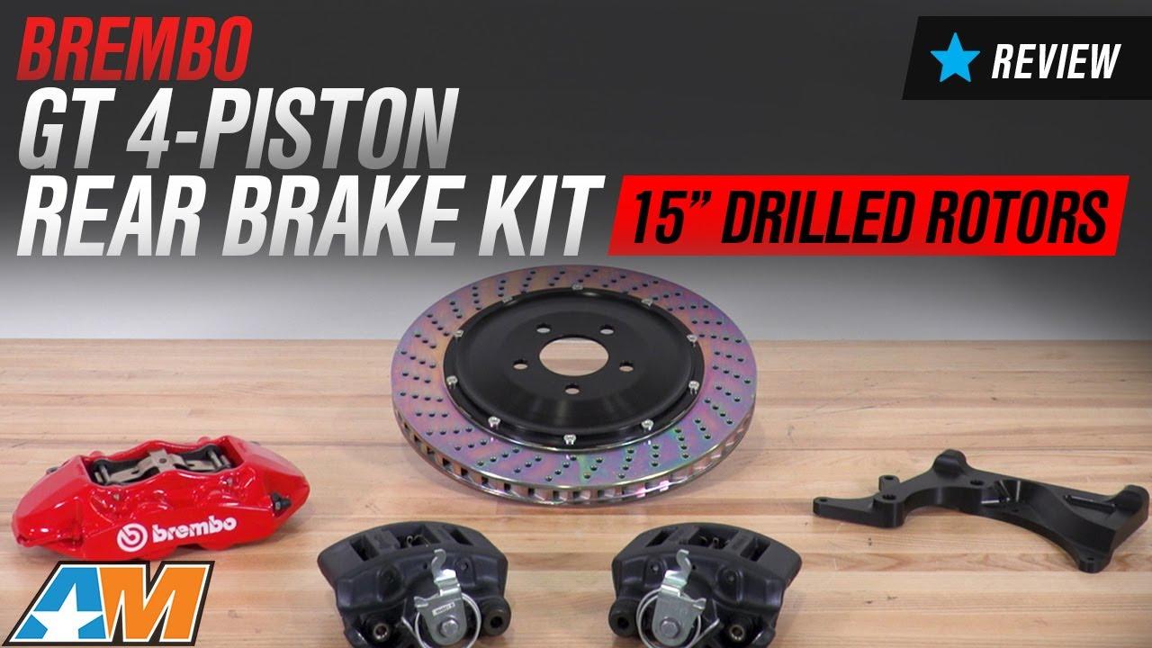 Brembo Brake Kit >> 2015-2017 Mustang GT Brembo GT 4-Piston Rear Brake Kit Review - YouTube