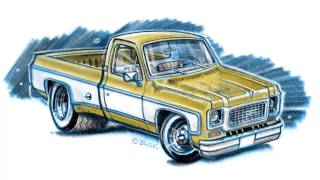 Drawing a truck (Chevrolet C10)