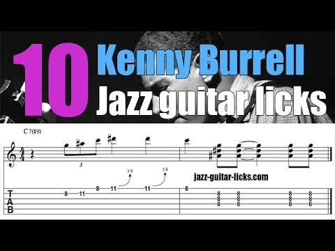 10 easy Kenny Burrell jazz guitar licks | Chitlins con carne | Lesson with tabs