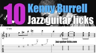 Gambar cover 10 easy Kenny Burrell Jazz Guitar Licks | Chitlins Con Carne | Lesson with Tabs