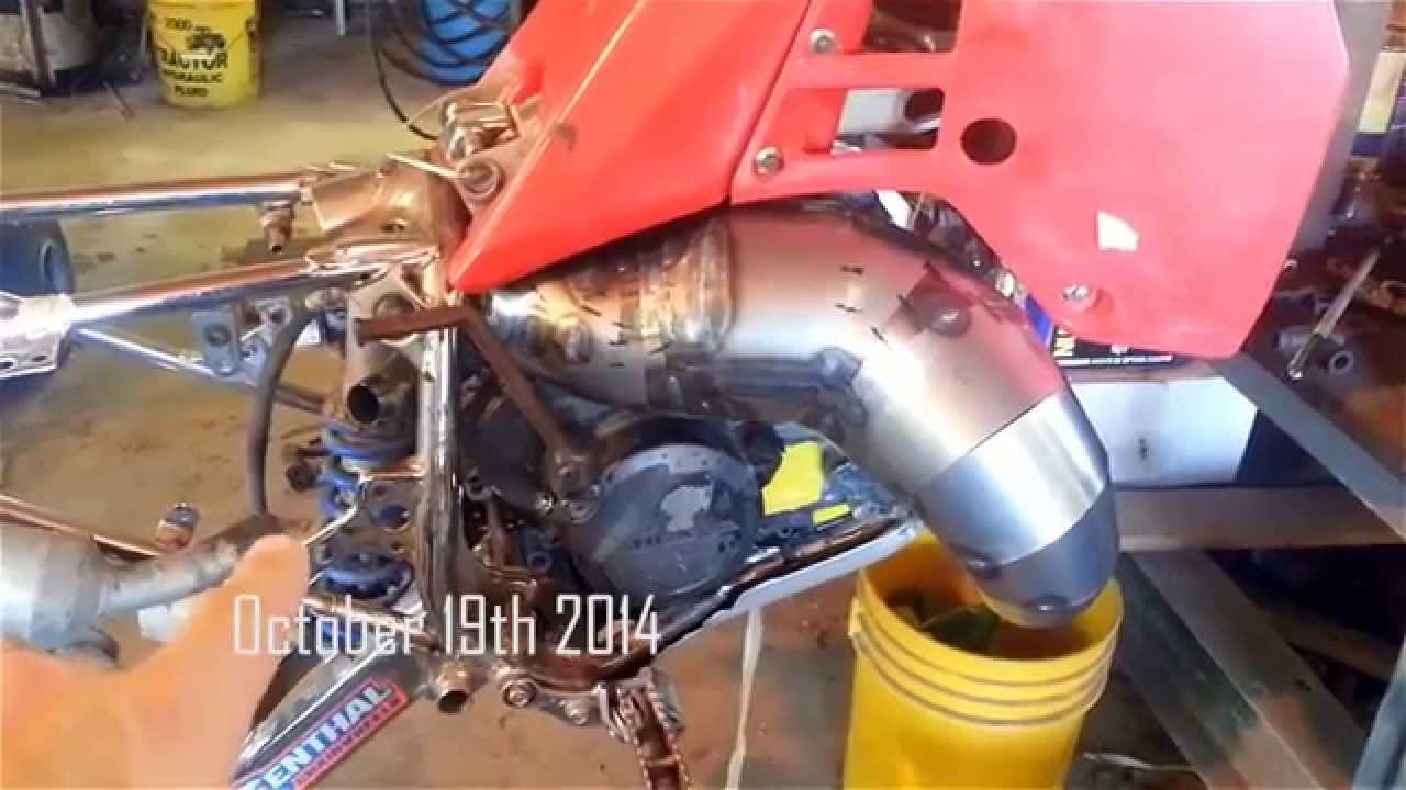 Rotax/250R Hybrid conversion engine update #4: Custom 2 stroke pipe  expansion chamber