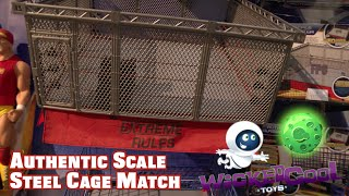 WWE FIGURE INSIDER: WWE Authentic Scale Steel Cage Match by Wicked Cool Toys