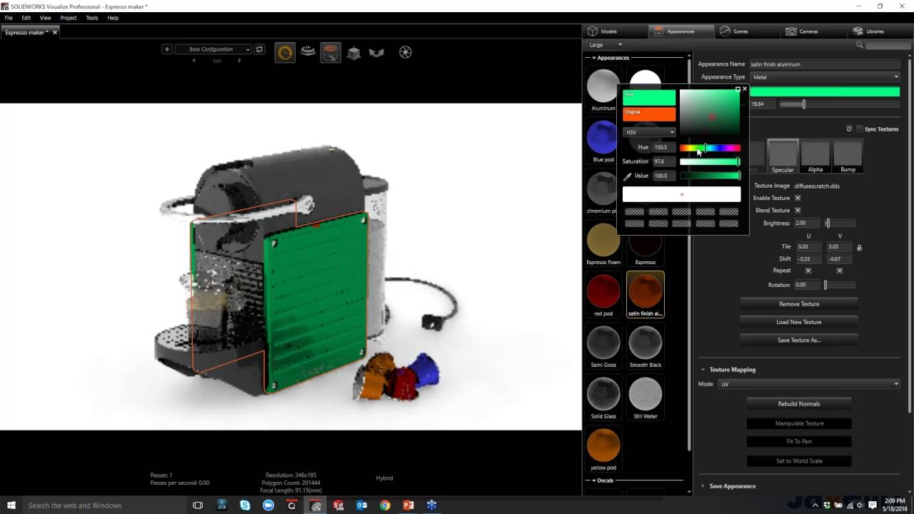Getting started with SOLIDWORKS Visualize Standard