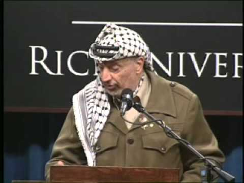 Yasser Arafat, President of the Palestine National Authority