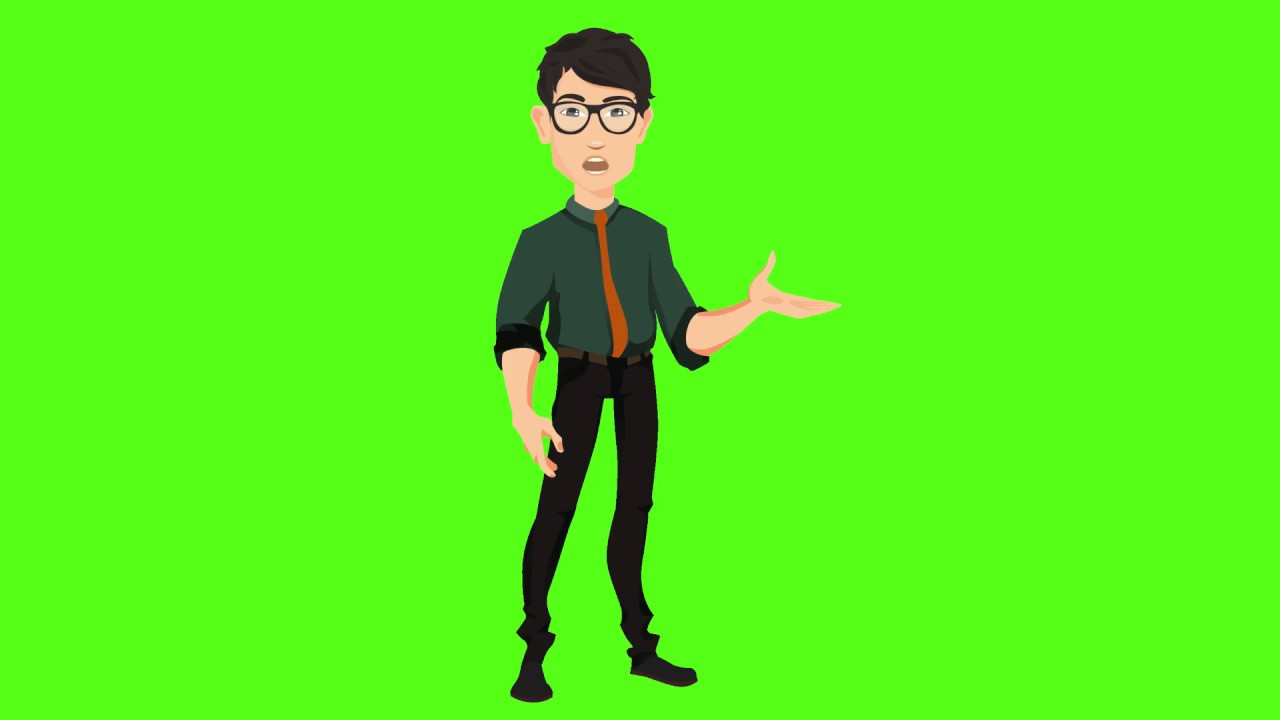 Free Cartoon Green Screen Effects 2019 Green Screen Character 2 Youtube