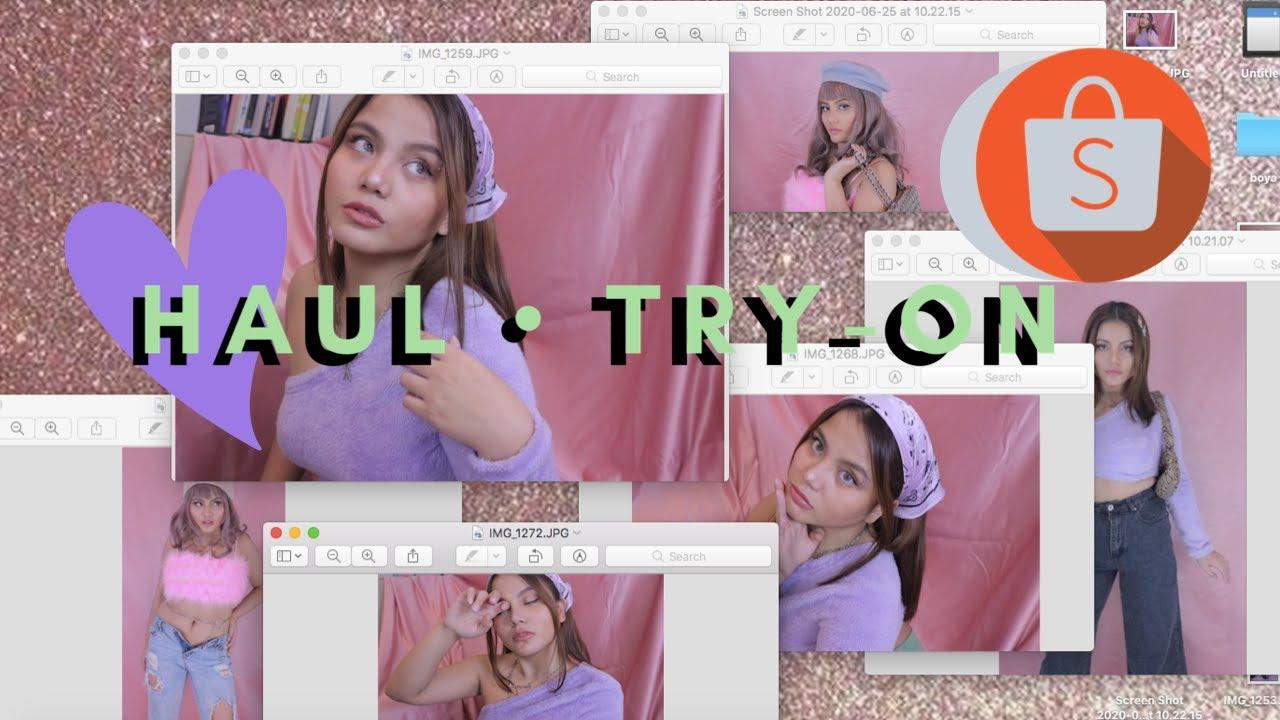 OOTD Shopee haul Aesthetic Online Shop Haul Try On Indonesia // Soft Girl, E girl - Boyaboay