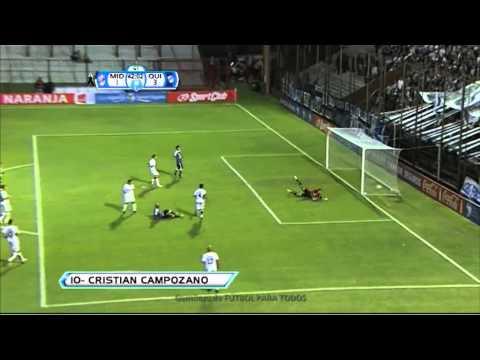 Gol Campozano. Quilmes 3 Midland 1. Copa Argentina 2013. 24avos. Fútbol Para Todos.