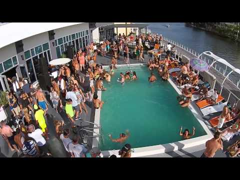 Aloft Pool Party Downtown Tampa Aerial