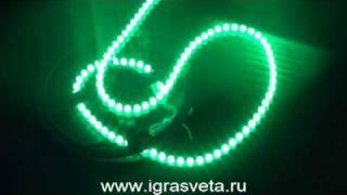 Светодиоды зеленое свечение.mpg(Водонепроницаемая герметичная светодиодная лента. Угол излучения света 100 градусов. Каждый светодиод..., 2008-12-06T12:42:50.000Z)