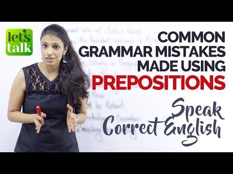 common grammar mistakes while speaking english