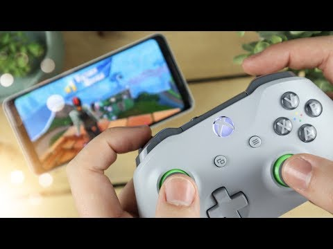Playing Fortnite Mobile With An Xbox One Controller! (Is It Cheating?)