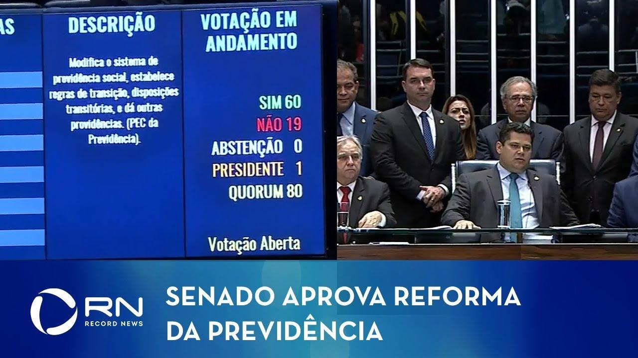Resultado de imagem para Previdência é aprovada em 2º turno no Senado e segue para sanção