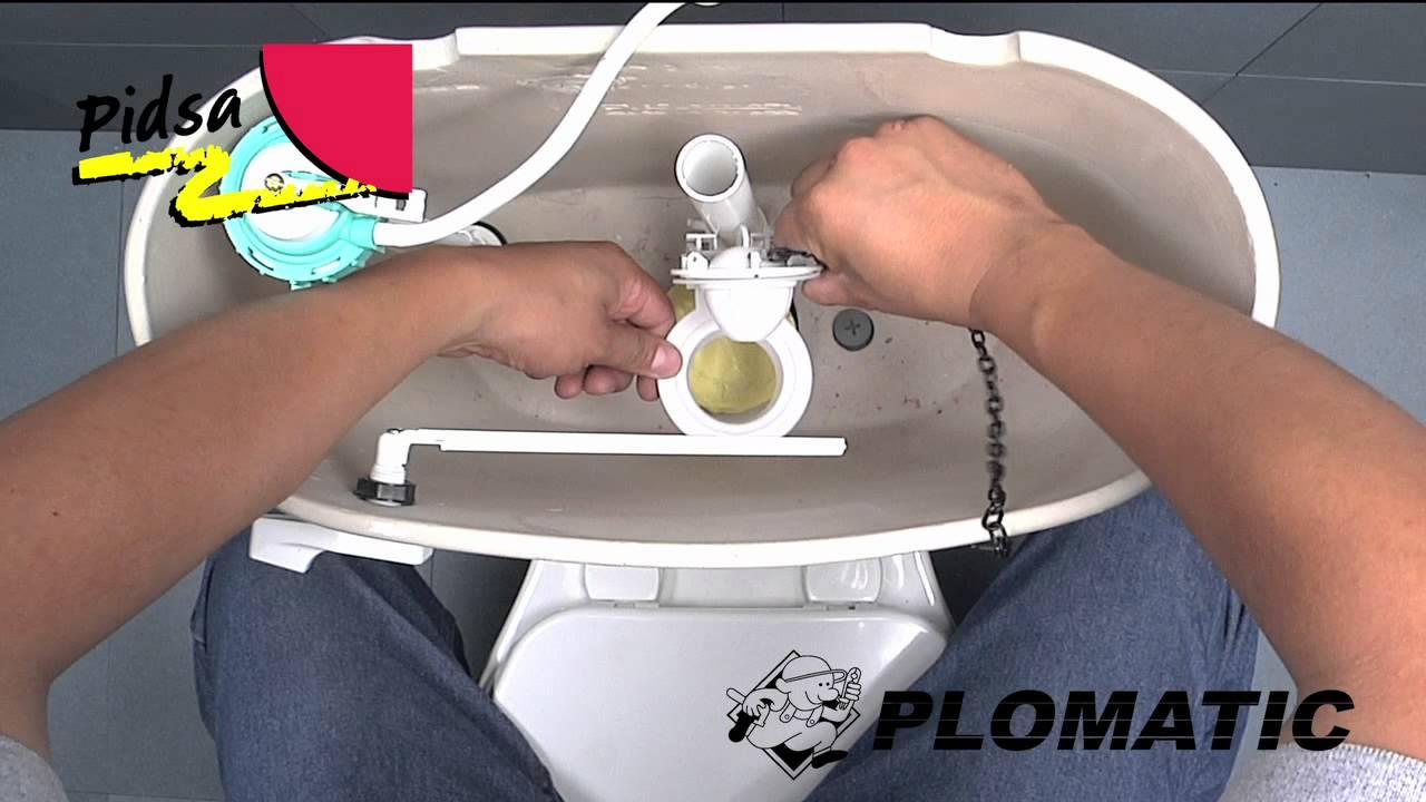C mo instalar el sapo con cera youtube for Como colocar una mochila de inodoro