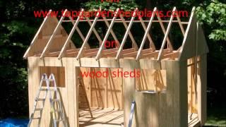 Wood Shed Plans - Wood Sheds - Topgardenshedplans.com