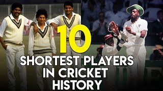 10 - Shortest players in cricket history