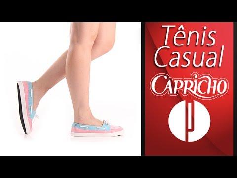 671e5babd5464 Tênis Casual Feminino Capricho Kauai - 7240149890 - YouTube