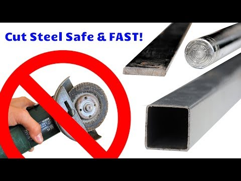 Terrified of Angle Grinders? How to Cut Steel Fast & Cheap WITHOUT Losing Any Fingers!