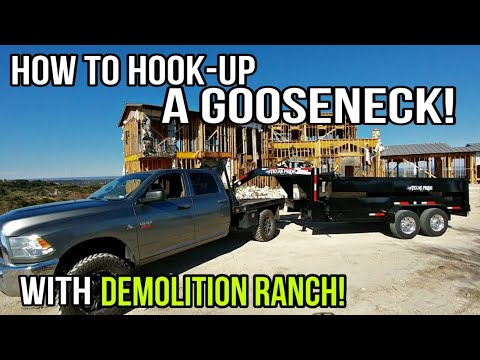 Helping Demolition Ranch Hitch A GOOSENECK Dump Trailer! Featuring The Renovation Ranch MANSION