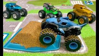 Monster Jam Monster Dirt Kinetic Sand - MoNSTER MAYHEM with our MEGA Monster Truck Collection