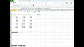 00022 - How To Convert Feet Per Minute To Meters Per Second Using Microsoft Excel