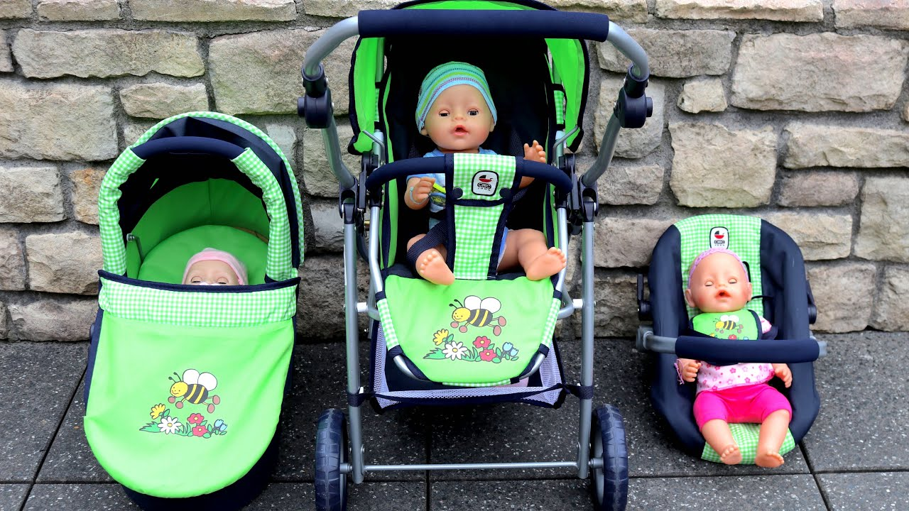 Infant Dolls Pram Baby Born Baby Annabell 3 In 1 Travel System Pram Stroller Pretend Play With Baby Dolls