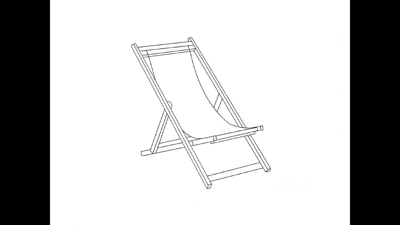 Beach lounge chair drawing - How To Draw A Beach Chair