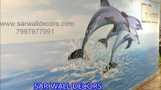 High school Boundary Art work painting in Hyderabad By 7997977991