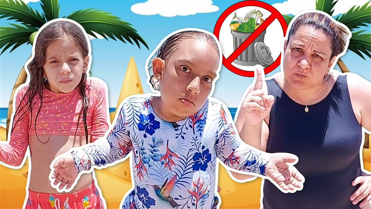 Maria Clara e Jessica Novas Regras de Conduta na Praia   Rules of Conduct on the beach- MC Divertida