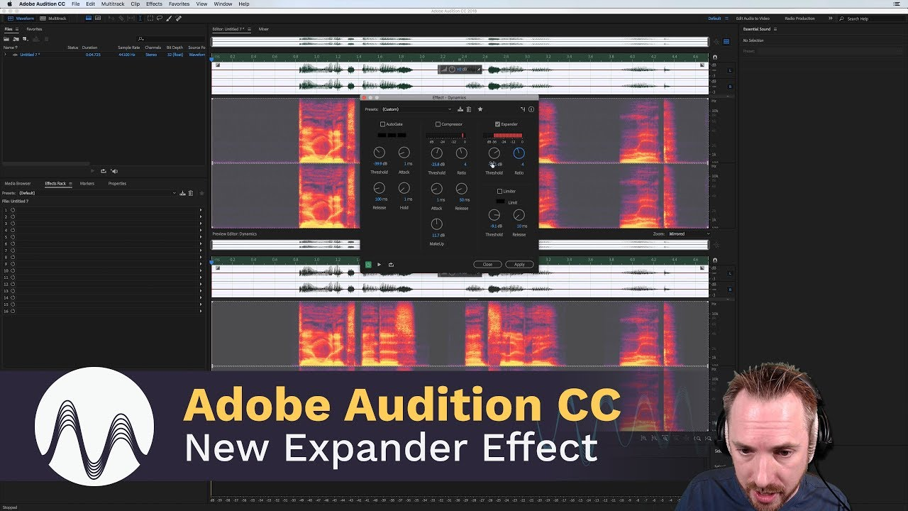 adobe audition cc 2018 new expander effect youtube. Black Bedroom Furniture Sets. Home Design Ideas