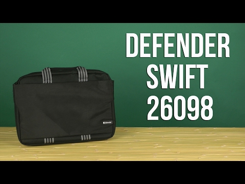 "Распаковка Defender Swift 15.6"" Black 26098"