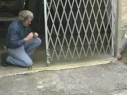Folding Security Gate Installation Instructions Youtube