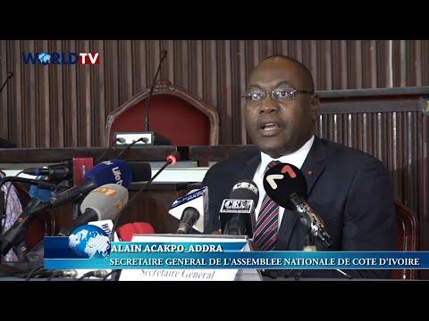 Côte d'Ivoire - Assemblée Nationale : Conférence Presse de l'ouverture de la session ordinaire 2021