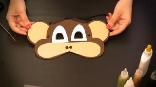 Cómo hacer un antifaz de mono : Antifaces de animales para niños