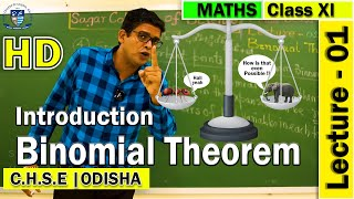 Mathematics | Binomial Theorem | Lecture -01 | Elements of Mathematics | Sagar College Balasore