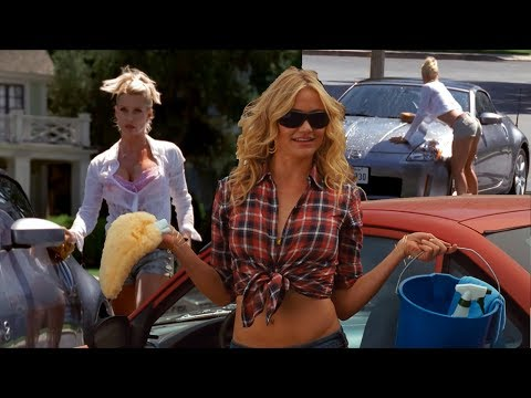 Nicollette Sheridan Cameron Diaz BAR KAYS Car Wash Battle