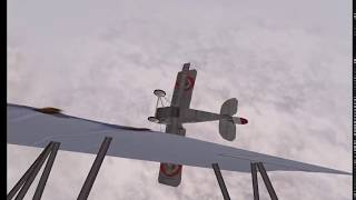 7 minutes of multiplayer WW I red baron 3d flying and dying :-)