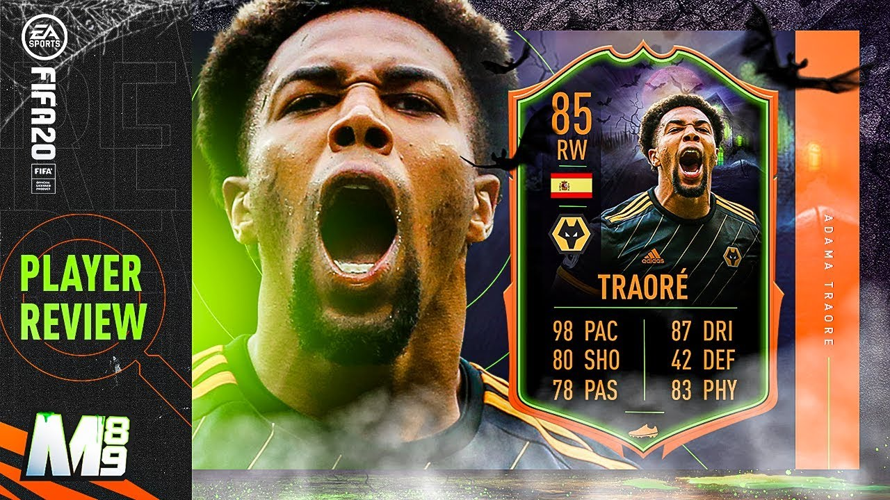 Fifa 20 Scream Adama Traore Review 85 Scream Adama Traore Player Review Fifa 20 Ultimate Team Youtube