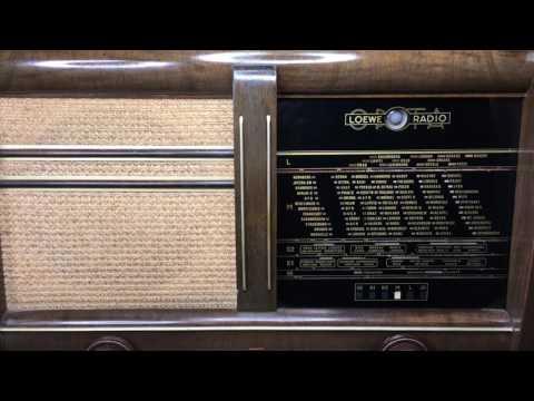 Loewe Opta Rheingold 3751 W Düsseldorf Röhrenradio Tube Radio
