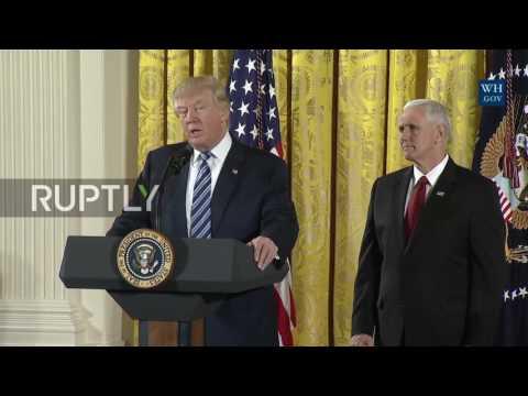 USA: Trump discusses Georgia storms and plans to renegotiate NAFTA