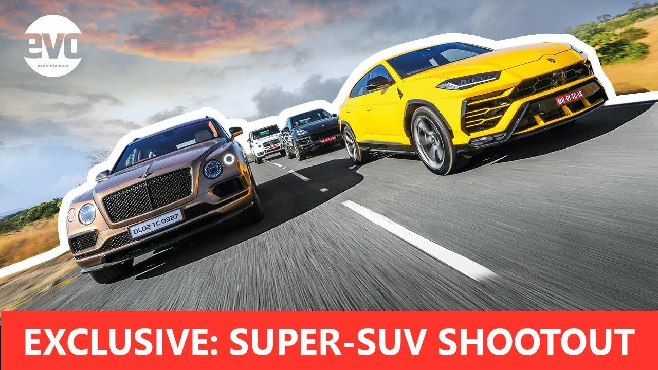 Download Super SUV Shootout   Urus vs AMG G63 vs Bentayga vs Cayenne Turbo   India Exclusive   evo India