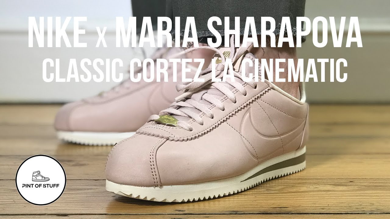 sports shoes c05e3 76972 Cinematic Onfoot Look at Nike x Maria Sharapova Classic Cortez LA Sneaker  with SJ
