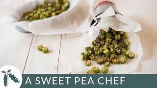 Cornmeal Fried Okra | A Sweet Pea Chef
