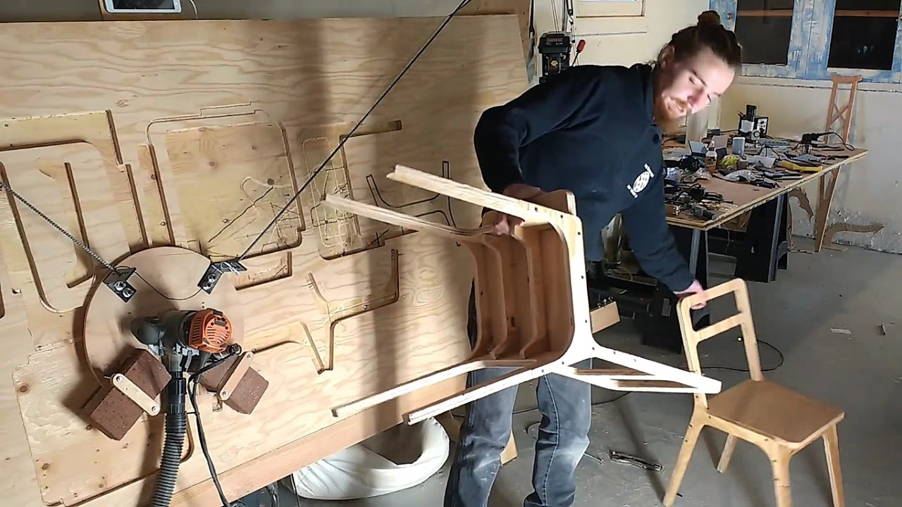 Cutting a Chair from OpenDesk with Maslow