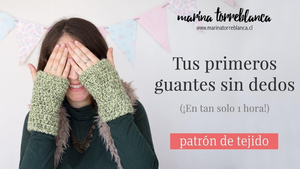 Tus primeros guantes sin dedos a crochet [Patron de tejido] - YouTube