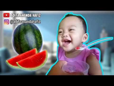 Adifa Makan Semangka, Mukbang, ASMR, Parodi Anak Main Mainan Anak, Video Anak